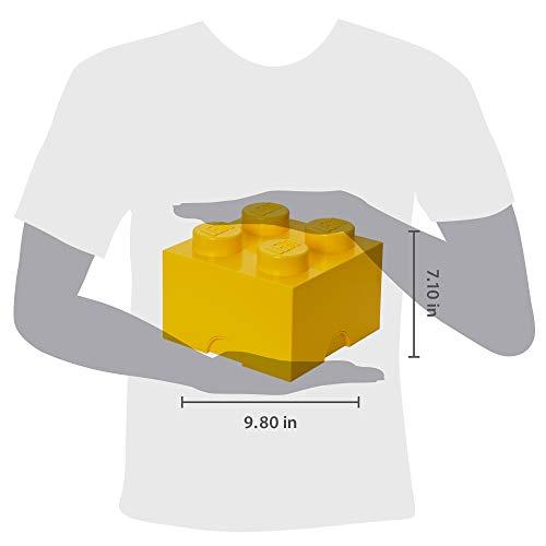 Room Copenhagen LEGO Storage Brick Drawer 4, 9-3/4 x 9-3/4 x 7-1/8 Inches, Bright Yellow (4003)