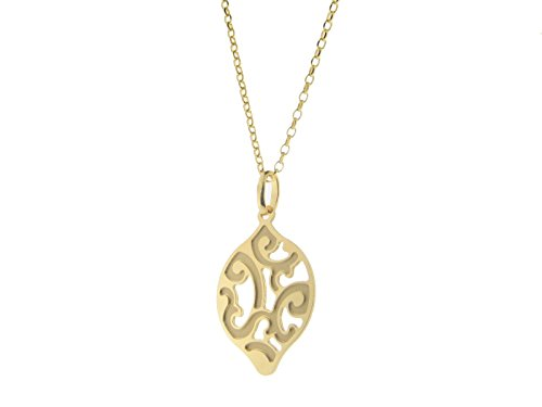 Fronay Co Estruscan Golden Almond Swirls Necklace in Sterling - Macy's The Galleria In