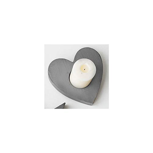 Water hep Candle Mold Star Shaped, Heart Type Candlestick Silicone Mold Cement Concrete Plaster Desktop Display Creative Candlestick Mould Heart by Water hep (Image #1)