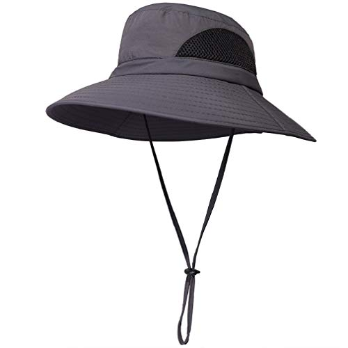 1ff119d14771f1 EINSKEY Women's Wide Brim Sun Hat, Outdoor Sun Protection Visor Floppy Hat  Packable Boonie Hat for Safari Fishing Beach Golf