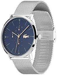 Lacoste Quartz Watch with Stainless Steel Strap, Silver, 20 (Model: 2011024) 3