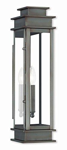 Livex Lighting 20207-29 Princeton 1 Light VPW Outdoor Wall Lantern, Vintage Pewter