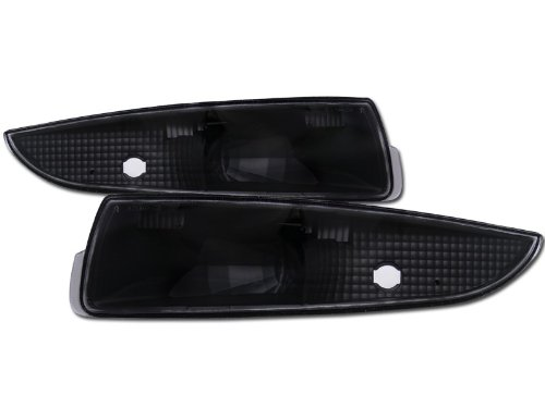R&L Racing Black Clear Lens Front Signal Parking Bumper Lights Lamps K2 93-02 Chevy Camaro -