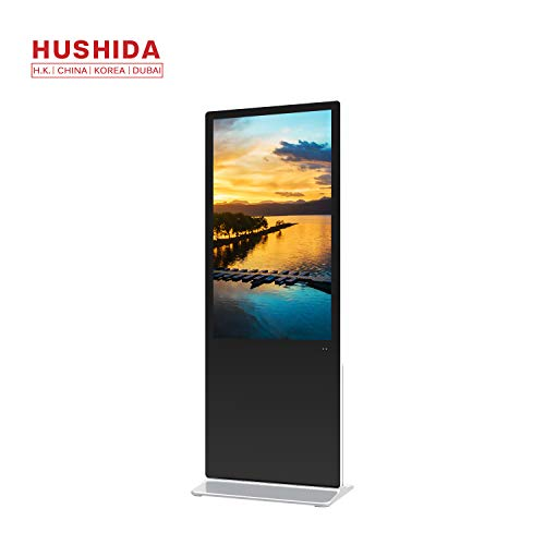 - HUSHIDA 49inch Commercial Floor-Standing Digital Signage, 1080p 4K Full-View Display HD LCD Advertising Kiosk for Shopping Mall, Enterprise, Attractions