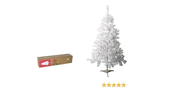 Gerimport Arbol Navidad 150cm Blanco 257 Puntas Caja 83x19x19cm: Amazon.es: Hogar