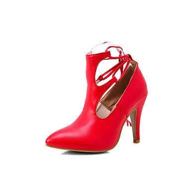 Talones de las mujeres Primavera Verano Otoño Invierno Otro de cuero oficina y carrera Fiesta y Noche Tacón de Aguja vestido Negro Púrpura Rojo Blanco Red