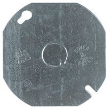 Steel City 54C6 Outlet Box Cover, Octagon, Flat, Blank, 4-Inch Diameter, Galvanized, 50-Pack by Thomas & Betts