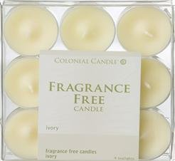 Colonial Tealights Candle (Colonial Candle - Ivory Unscented Tealights-2 per case)