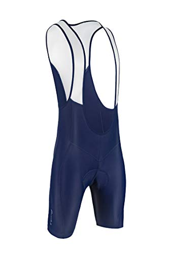 (Przewalski Men's 3D Padded Cycling Bike Bib Shorts, Excellent Performance and Better Fit (XL, Blue))