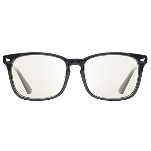 TIJN Blue Light Blocking Computer Reading Gaming Glasses Nerd Coumpter Glasses for Men ()