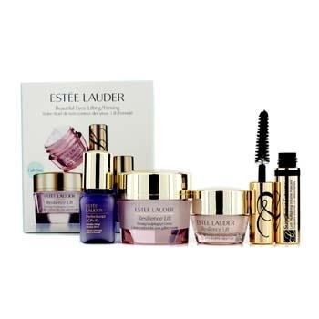 Estee Lauder Beautiful Eyes Set: Resilience Lift Eye Cream + Face & Neck Cream + Perfectionist [CP+R] + Mascara #01 4pcs