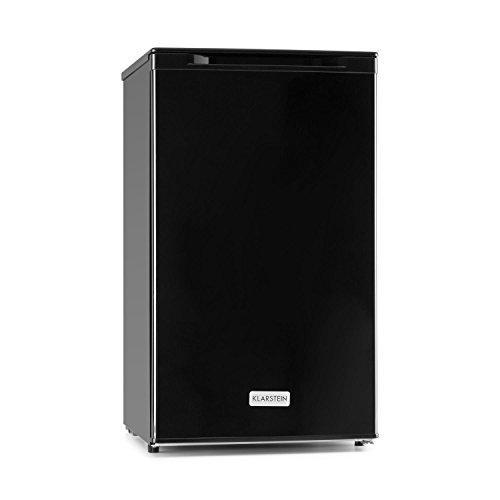 Klarstein Garfield XL Gefrierschrank A+ Gefrierkühlschrank 4-Sterne-Gefrierfach mit 75L (80W, 165 kWh / Jahr, zwei Korbschubladen, stufenlos regelbare Tiefkühltemperatur bis -18 °C) schwarz