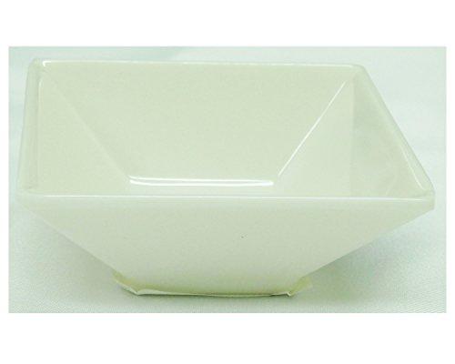 [(Set of 12) Amatahouse Square Soy Sauce Dish Sushi Wasabi Plates Barbecue Soy Sauce Dipping Bowls Porceline Jade Stone&Melamine, Cream 3 inch] (Sushi And Kikkoman Costume)