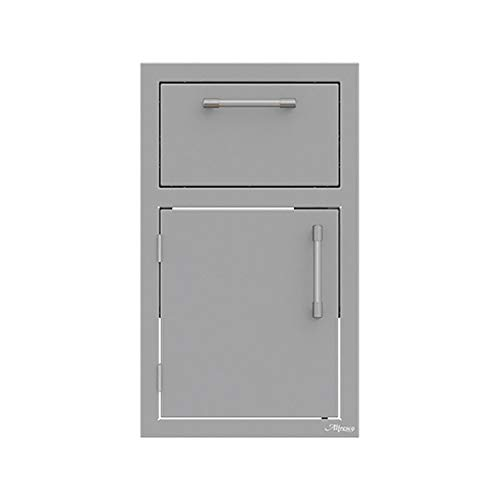 Alfresco Door and Drawer Combo (Axe-DDR-L-SC), Left Hinged, 17-Inch