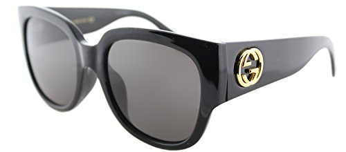 Gucci GG 0142 SA- 001 BLACK / GREY - Women Gucci Shades