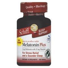 Schiff Melatonin 3mg Plus Tabs, 180 ct by SCHIFF - Schiff Melatonin Plus