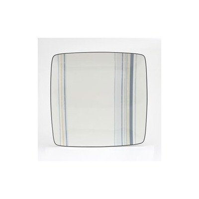 Noritake Java Graphite Swirl 10-1/4-Inch Square Plate
