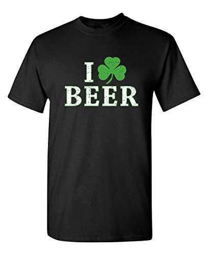 - I Clover Beer Men's Patty Irish Funny St Patrick's Day T Shirt XL Black