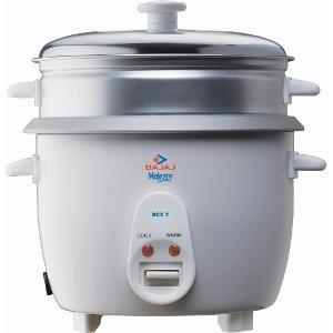 Bajaj Majesty RCX7 700 Watt 1.8 Litre Rice Cooker  White  Rice   Pasta Cookers