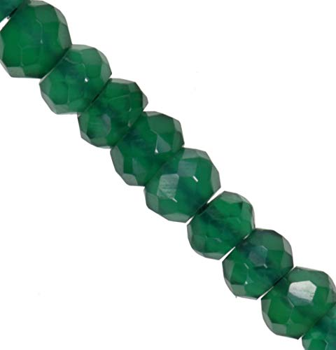 Green Onyx Micro Faceted Rondelle Genuine Natural Beads Strand 3mm