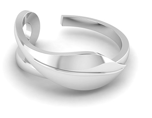 Krysaliis Sterling Silver Oval Leaf Ring- Set of 2 ()