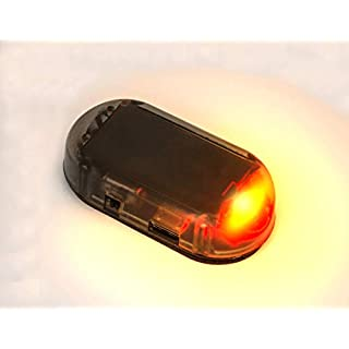 Sale PerfecTech Car Solar Power Simulated Dummy Alarm Warning Anti-Theft LED Flashing Security Light Fake Lamp Red