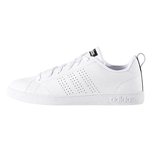 adidas NEO Women's Advantage Clean VS W Casual Sneaker,White/White/Black,7 M US - Adidas Casual Shoes