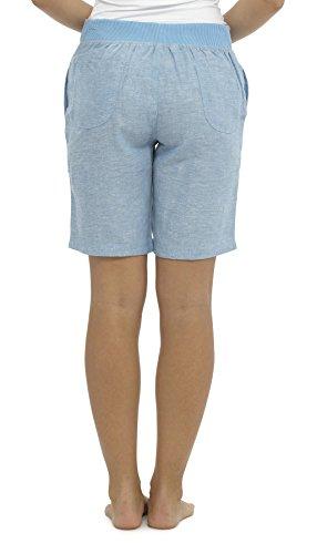 Vacanze Donna Jeans Da Cool Spiaggia Estate Pantaloni Lino Casual Pantaloncini Hqgqd06x
