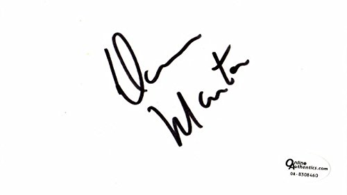 (Dean Martin Signed - Autographed 3x5 inch Index Card - Online Authentics Authenticity Sticker OA, not PSA or JSA- Deceased 1995 - The Rat Pack Singer-Actor)