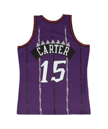 Mitchell & Ness Toronto Raptors Vince Carter Swingman Jersey (Purple, XL)