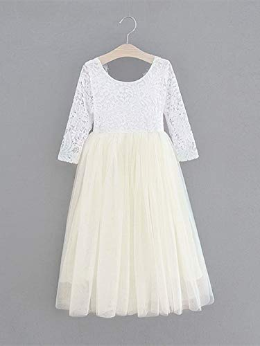 9b63f04ec25 2Bunnies Girl Peony Lace Back A-Line Straight Tutu Tulle Party Flower Girl  Dresses