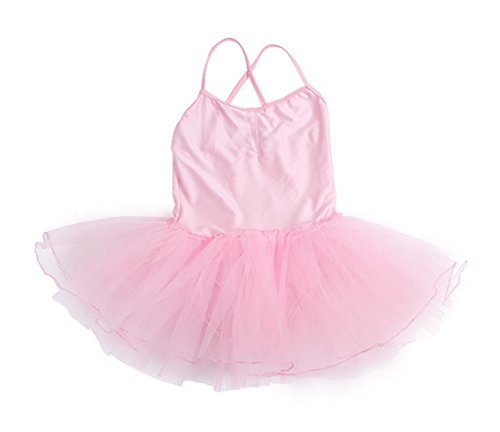 Kids Girls Pink Ballet Dance Tutu Skirt Dress Costume Leotards Suit for 6-7T