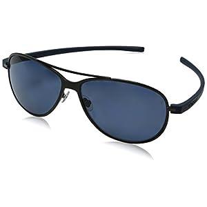 TAG HEUER Unisex-Adult Reflex 3 3982 Polarized Oval Sunglasses, black, 64 mm