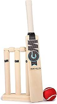 GM Cricket Diamond Mini Cricket Set - Black/Blue/White, One Size
