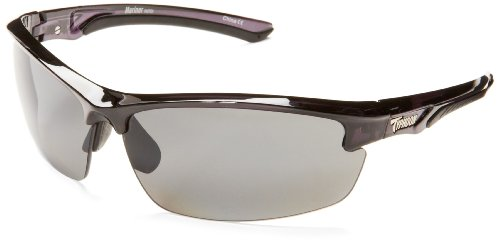 Typhoon Mariner Semi-Rimless Polarized Sunglasses,Shiny Black,78 - Typhoon Eyewear