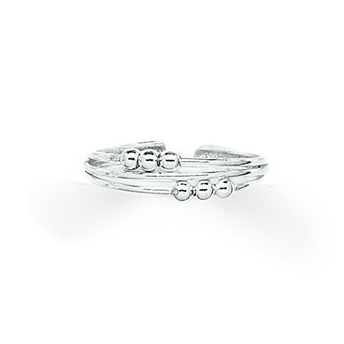 Tomas Jewelry Sterling Silver Six Bead Toe Ring