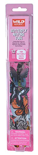 Wild Republic Butterfly Nature Tube, Insect Figurines Tube, Nature Toys, Kids Gifts, -