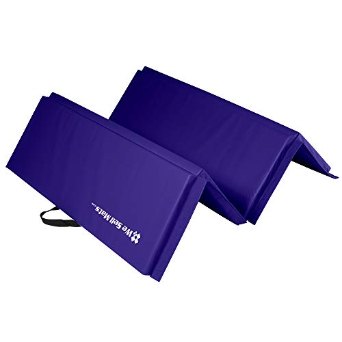 We Sell Mats 4 ft x 6 ft x 2 in Personal Fitness & Exercise Mat, Lightweight and Folds for Carrying, Purple