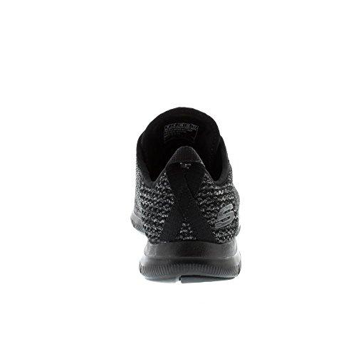 Skechers Sport Vrouwen Flex Beroep 2.0 Gedurfde Stap Mode Sneaker Zwart / Charc