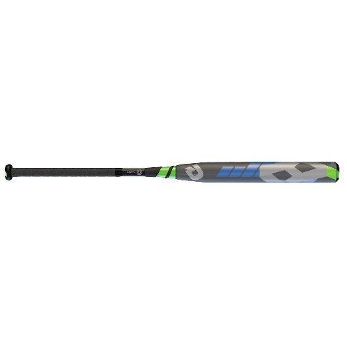 Wilson Demarini 2016 CF8 Fastpitch Bat (-10), Grey/Optic Blue/Optic Green/White, 32