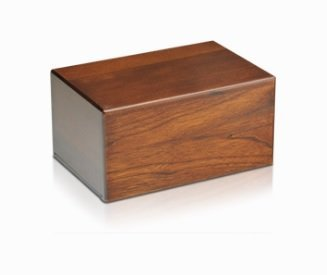 Small Economy Wooden Urn Box by Bogati