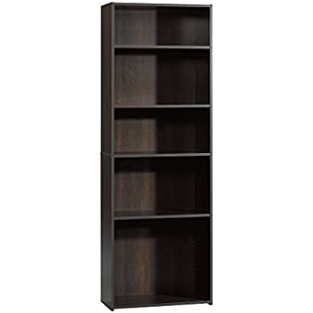 Amazon Com Sauder Beginnings 3 Shelf Bookcase Cinnamon Cherry Finish Kitchen Amp Dining