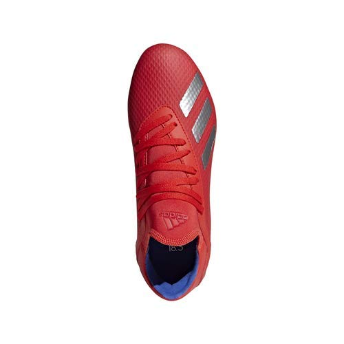 adidas X 18.3 Firm Ground, Active red/Silver Metallic/Bold Blue 13K M US Little Kid by adidas (Image #7)