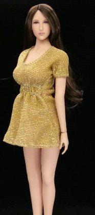 1/6 フィギュア 用 アクセサリー/ 女性ワンピース セクシースカート服セット (素体とヘッドは含まりません)