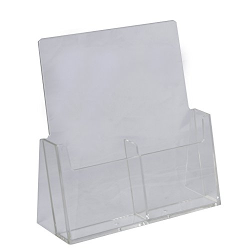 Clear-Ad - LHF-S130 - Acrylic Free Standing Tri-fold Multi-tier Brochure Holder 4 x 9 (Pack of 25)