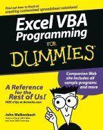 Excel VBA Programming for Dummies (04) by Walkenbach, John [Paperback (2004)] by Dumies, Paperback(2004)