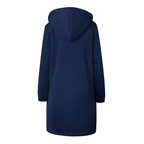 Women's Autumn Winter Fashion Warm Sweatshirt, LLguz Zipper Hoodies Long Sleeves Coat Jacket Pockets Outwear (XXXL, Blue) by LLguz (Image #4)