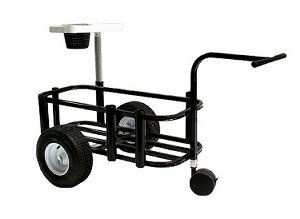Reels on Wheels	 PCCARTJR-Black Fishing Cart JR Black Powder Coat 14''x34'' 5-rod Holder by Reels on Wheels