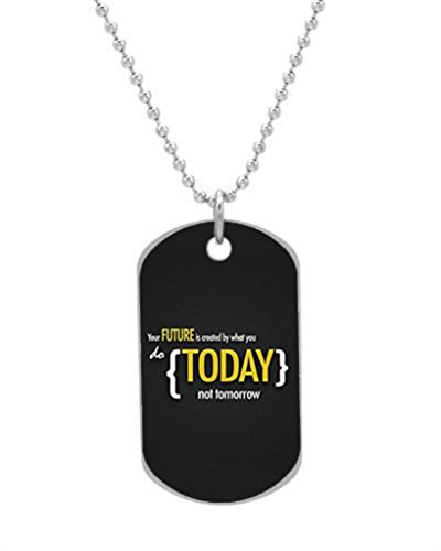 Inspirational Motivational Wallpaper New Year Custom Dog Tag with Neck Chain, Aluminum Oval Dog Tag (Large Size) Necklace Design by Stbenn