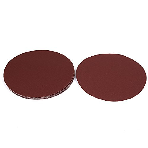 DealMux 10 Pcs 7 Diameter 150 Grit Abrasive Hook and Loop Sanding Sand Paper Disc Brown